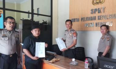 Ancam Wartawan, Ketua DPRD kota Bengkulu Dilaporkan ke Polda