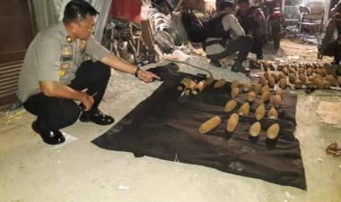 Polsek Cipondoh Amankan Mortir Siap Meledak dari Tukang Rongsokan