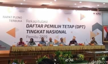 KPU : DPT Pemilu 2019 Sebanyak 192.828.520 Juta