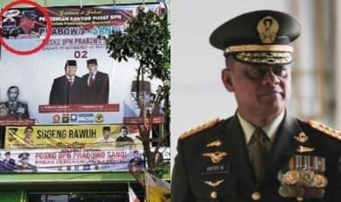 Merasa Dicatut, Gatot Minta Fotonya di Baliho Prabowo-Sandi Diturunkan
