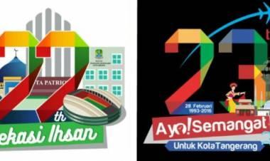 Duh Bikin Malu Aja, Logo HUT Kota Bekasi ke 22 Diduga Jiplak Dari Kota Tangerang
