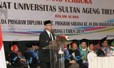 Gubernur WH Optimis Untirta Cetak Akademisi Handal