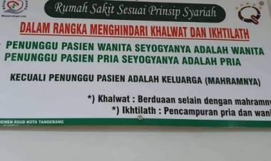 Buntut Spanduk Syariah yang Dinilai Diskriminatif, PDIP Sebut RSUD Kota Tangerang Milik Semua Umat