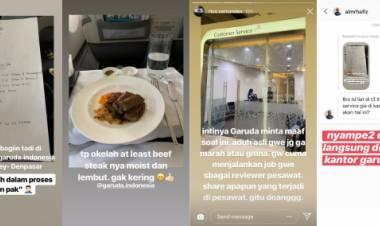Ungkap Menu Makanan Berupa Tulisan Tangan  via Instagram, Serikat Pekerja Garuda Indonesia Lapor Polisi
