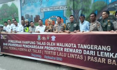 Walikota Tangerang Kenalkan Kampung Talas Sebagai Pelopor Kampung Tertib Lalu Lintas Di Indonesia