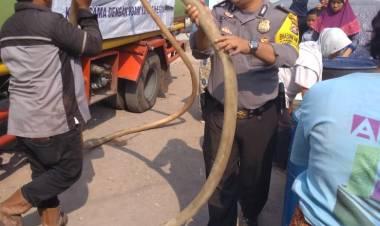 Polda Banten dan PDAM Cilegon Sebar Air Bersih ke Warga Pulo Ampel, Kemana Pemkab Serang?