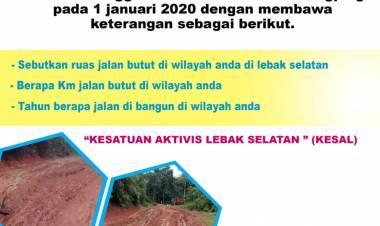 Dinilai 'Juara' Soal Jalan Rusak, Aktivis Lebak Selatan Gagas Festival Jalan Butut 2020