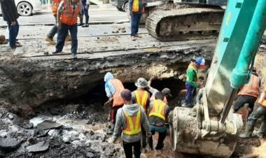 Jalan Daan Mogot Arah Tangerang Ambles, Kendaraan Besar Tak Boleh Lewat
