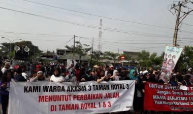 Setelah Didemo Berjilid-jilid, Pengembang Segera Perbaiki Akses Jalan Taman Royal