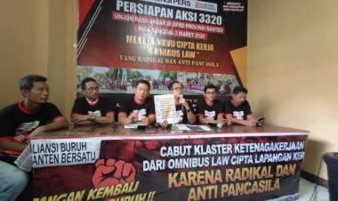 Tolak RUU Omnibus Law, Ribuan Buruh Bakal Kepung DPRD Provinsi Banten