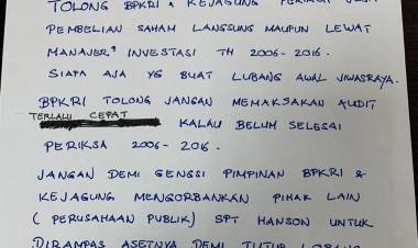 Tersangka Jiwasraya Merasa Jadi Tumbal, Sebut BPK Harus Audit Periode 2006-2016