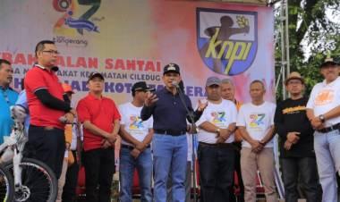 Sambut HUT Ke-27 Kota Tangerang, Warga Ciledug Meriahkan Dengan Gerak Jalan Sehat