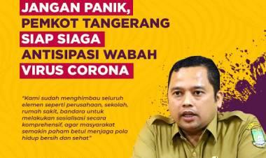 Jika Karantina Wilayah, Ini yang Bakal Dilakukan Pemkot Tangerang