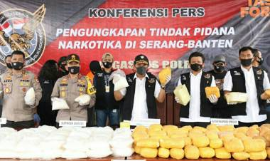 Jelang Idul Fitri, Sabu Hampir 1 Ton Digerebek Polisi dari Jaringan Timur Tengah di Banten
