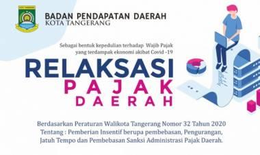 Di Kota Tangerang, Sektor Usaha Selama Pandemi Covid-19 Diberi Keringanan Pajak