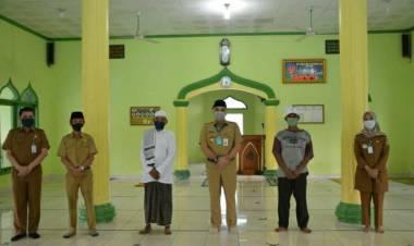 Sidak Masjid Dekat Kantornya, Bupati Zaki Cek Langsung Penerapan Protokol Kesehatan