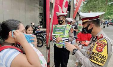HUT Lantas Polres Sukabumi, 100 Personil Sumbang Uang Buat Gerakan Sosial