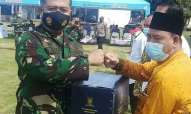 Kecamatan Mauk Terima 1.500 Paktet Dari TNI AU