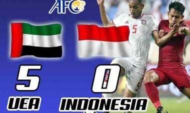 Telan Kekalahan Lagi, Timnas Indonesia Kalah  5-0 dari UEA