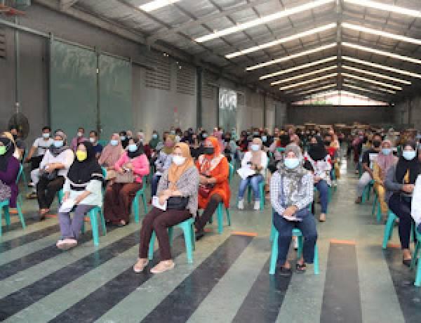 Harapkan Sektor Ketenagakerjaan Segera Pulih, Polda Banten Tinjau Vaksinasi di PT Aggiomultex Tigaraksa