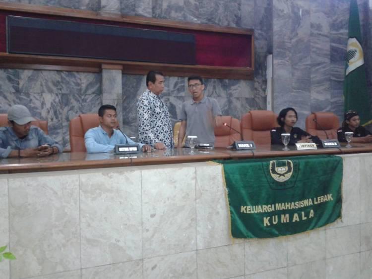Sidang Rakyat, KUMALA Segel Gedung DPRD Kabupaten Lebak
