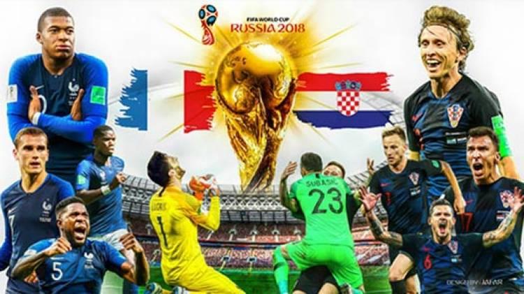 Ini Data, Fakta, dan Prediksi Jelang Final Kroasia vs Prancis di Piala Dunia 2018