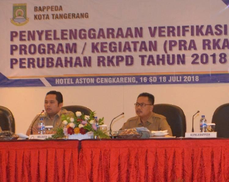 Bappeda: Anggaran Perubahan 2018 Harus Berbasis Peningkatan Kesejahteraan Warga Kota Tangerang