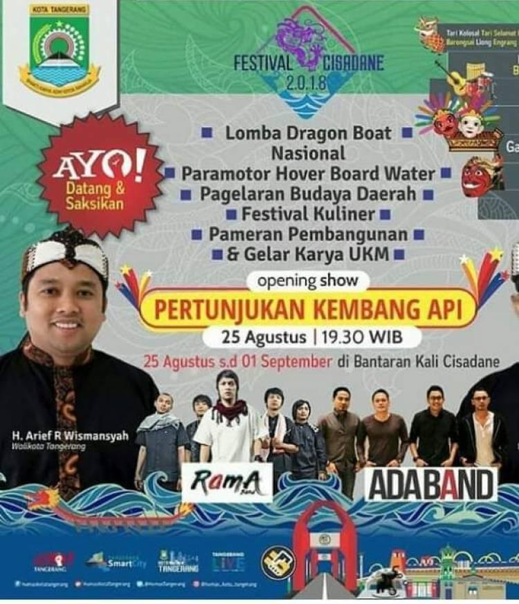 Pembukaan Festival Cisadane Bakal Diwarnai Pesta Kembang Api dan Lampion