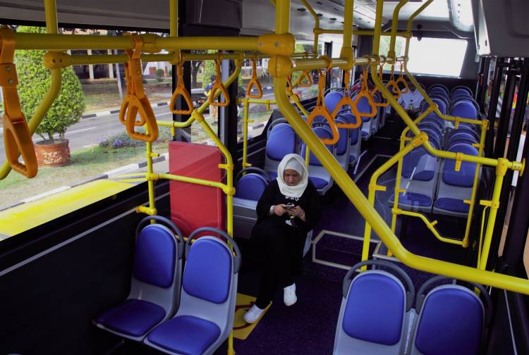 Bus Listrik Mulai Dioperasikan di Bandara Soekarno Hatta