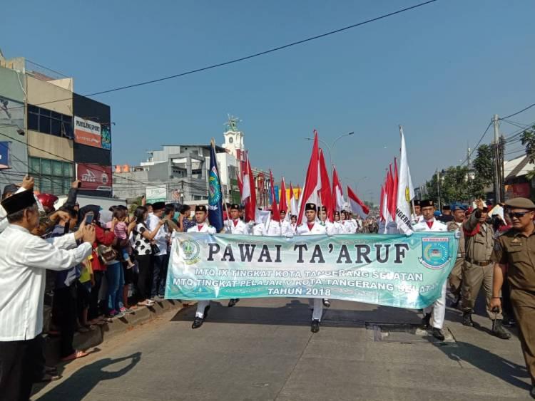 Ribuan Peserta Meriahkan Pawai MTQ ke-IX Kota Tangsel