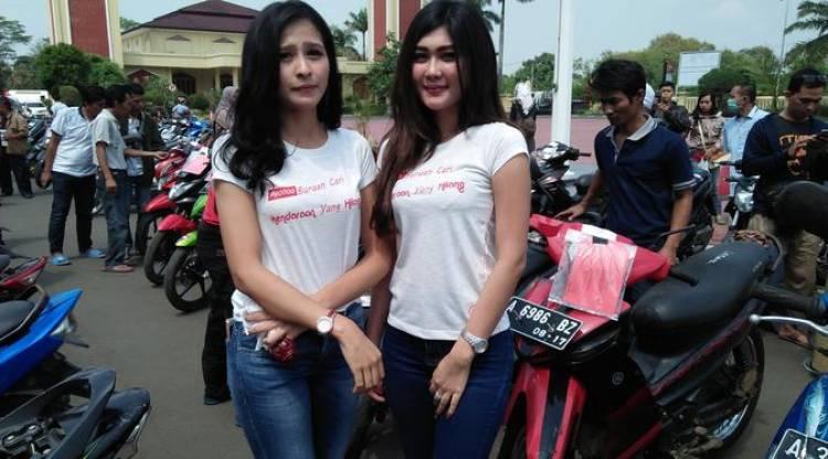 Motor Anda Hilang? SPG Cantik Siap Mencari di Polda Banten