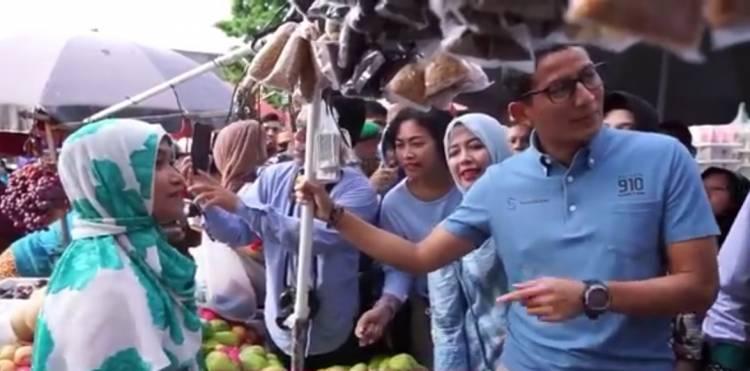 Kunjungi Pasar Tugu, Sandiaga Didoakan Para Pedagang Jadi Wapres RI