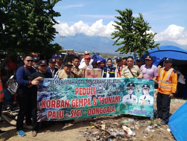 Pemkot Tangsel Serahkan Bantuan Rp 780 juta untuk Korban Tsunami Palu