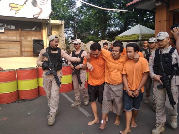 Tujuh  Perampok Motor Diringkus Tim Jatanras, Tiga Pelaku di Dor Polisi