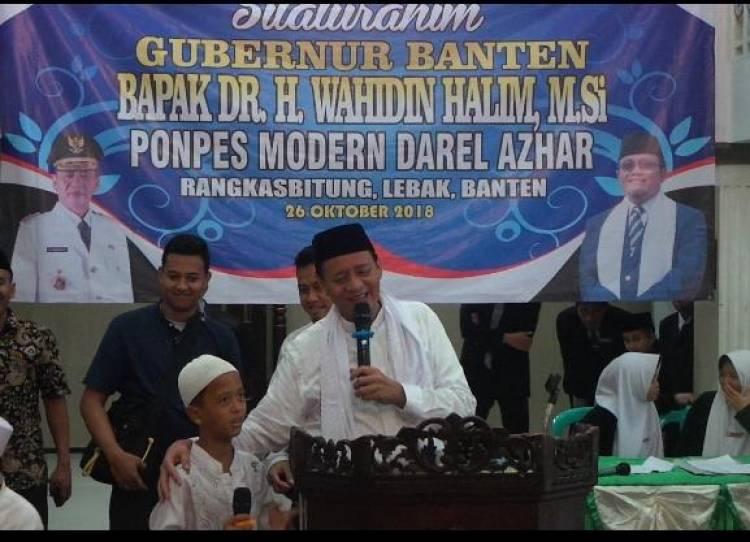 Kunjungi Pesantren Darel Azhar Lebak, Gubernur Banten Ingatkan Jaga Kerukunan dan Jangan Fitnah