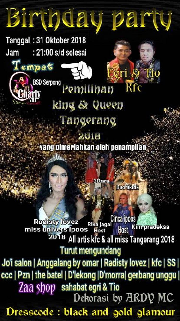 Viral Pemilihan King dan Queen 2018 Jadi Ajang Pesta LGBT, Polisi : Kami Akan Bubarkan