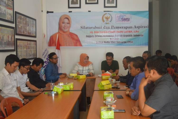 Anggota DPD RI Safari Digital, Ajak SMSI Bengkulu Serap Aspirasi UU Pemilu
