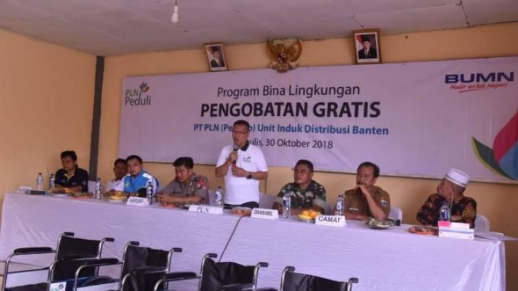 PLN Unit Banten Bagi-bagi Kursi Roda dan Pengobatan Gratis Untuk Warga Cigeulis Pandeglang