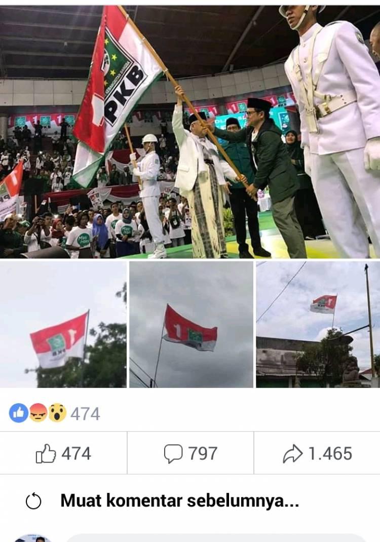 Polisi Telusuri Viralnya Foto Bendera Merah Putih Yang 'Ditiban' Bendera PKB