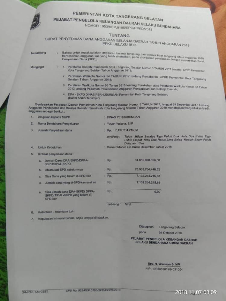 Soal Selisih Anggaran Dishub Tangsel, HMI : Kejaksaan Wajib Turun Tangan
