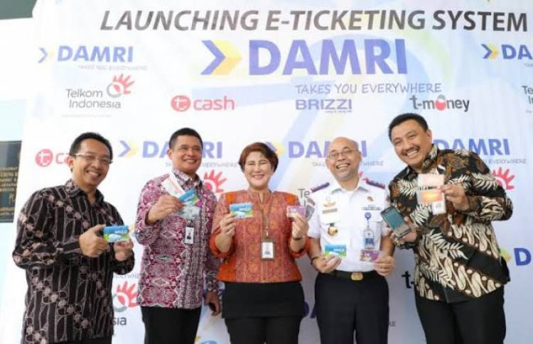 Damri Luncurkan E-Ticketing Soetta - Kemayoran