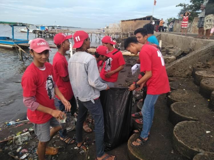 Isyana Ajak Warga Pesisir Pantai Tangerang Sayangi Laut, Jangan Buang Sampah Sembarangan