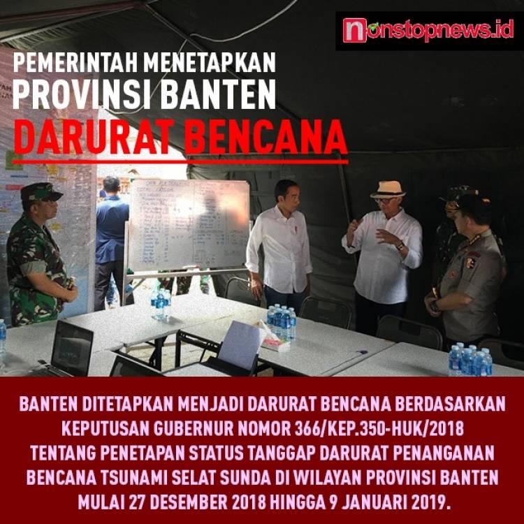 Gubernur Banten Bakal Gelar Istighosah di Lokasi Bencana Malam Tahun Baru