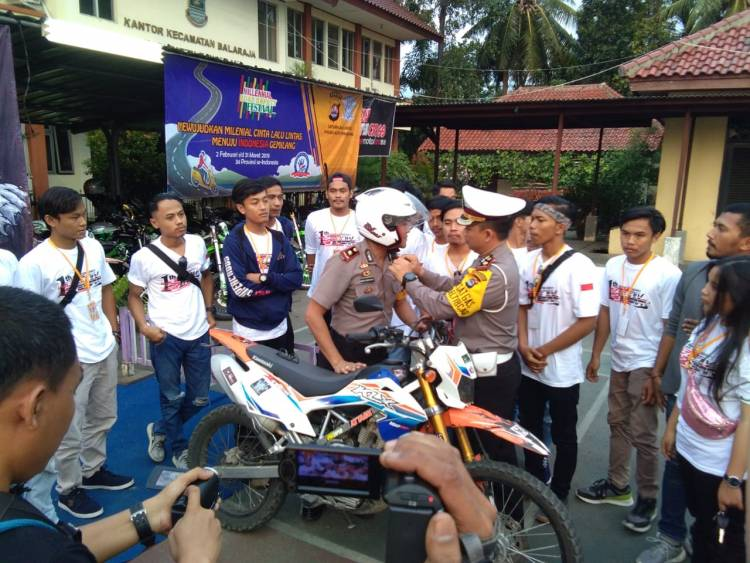 Gandeng Generasi Milenial, Satlantas Polresta Tangerang Ajak Safety Riding