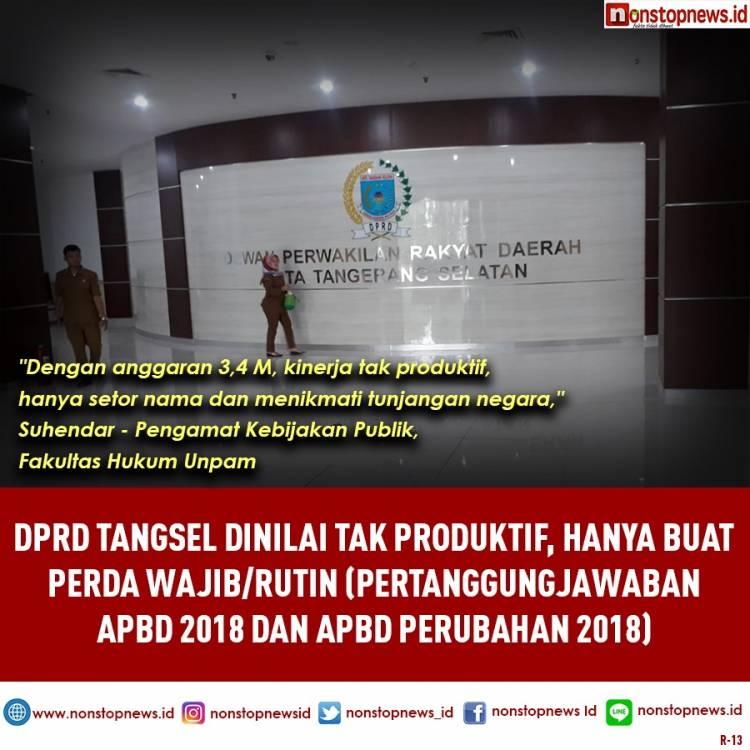 Setelah Tuding Eksekutif,  Bapemperda Tangsel Salahkan Mekanisme Provinsi Banten