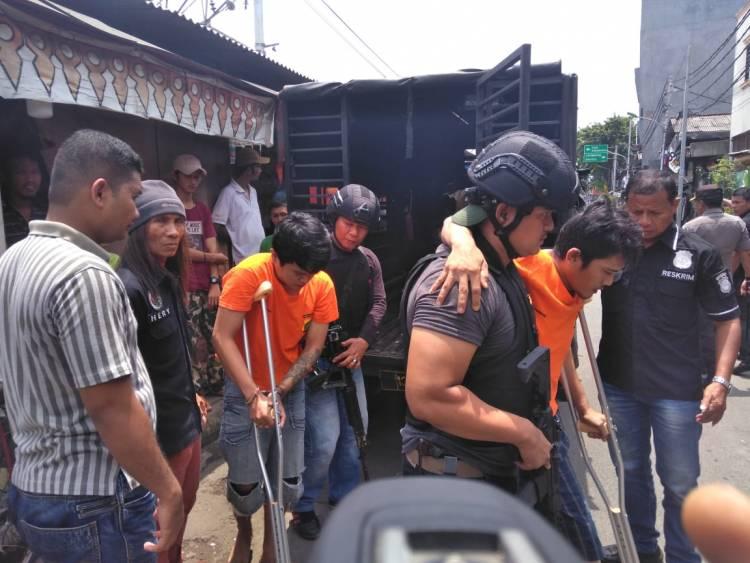 Bandit Ranmor Asal Serang Dibedil Polisi Tambora