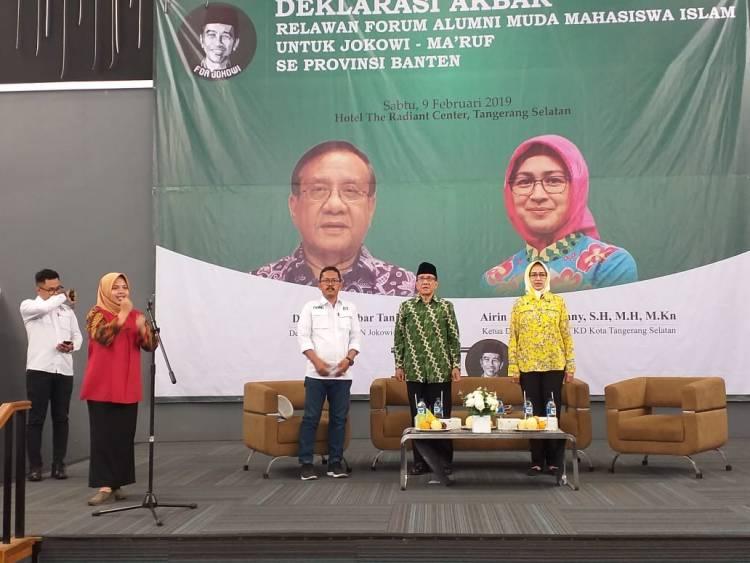 Dampingi Akbar Tanjung, Airin Bersama Alumni Mahasiswa Islam Dukung Jokowi