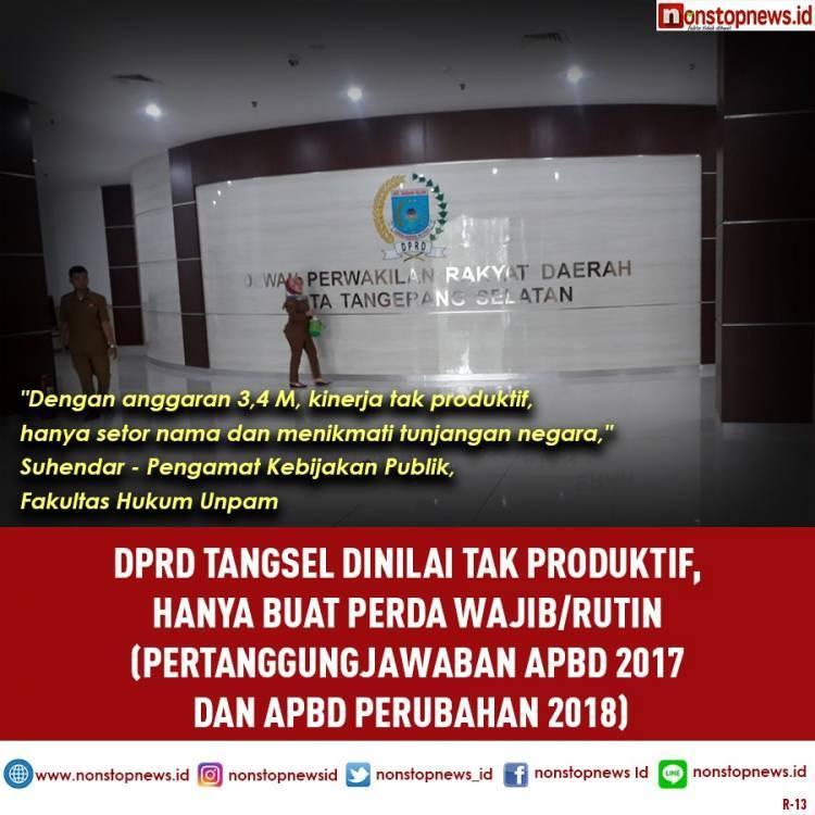 Waduh.! Pimpinan DPRD Tangsel Anggap Hanya 2 Perda yang Penting Buat Rakyat