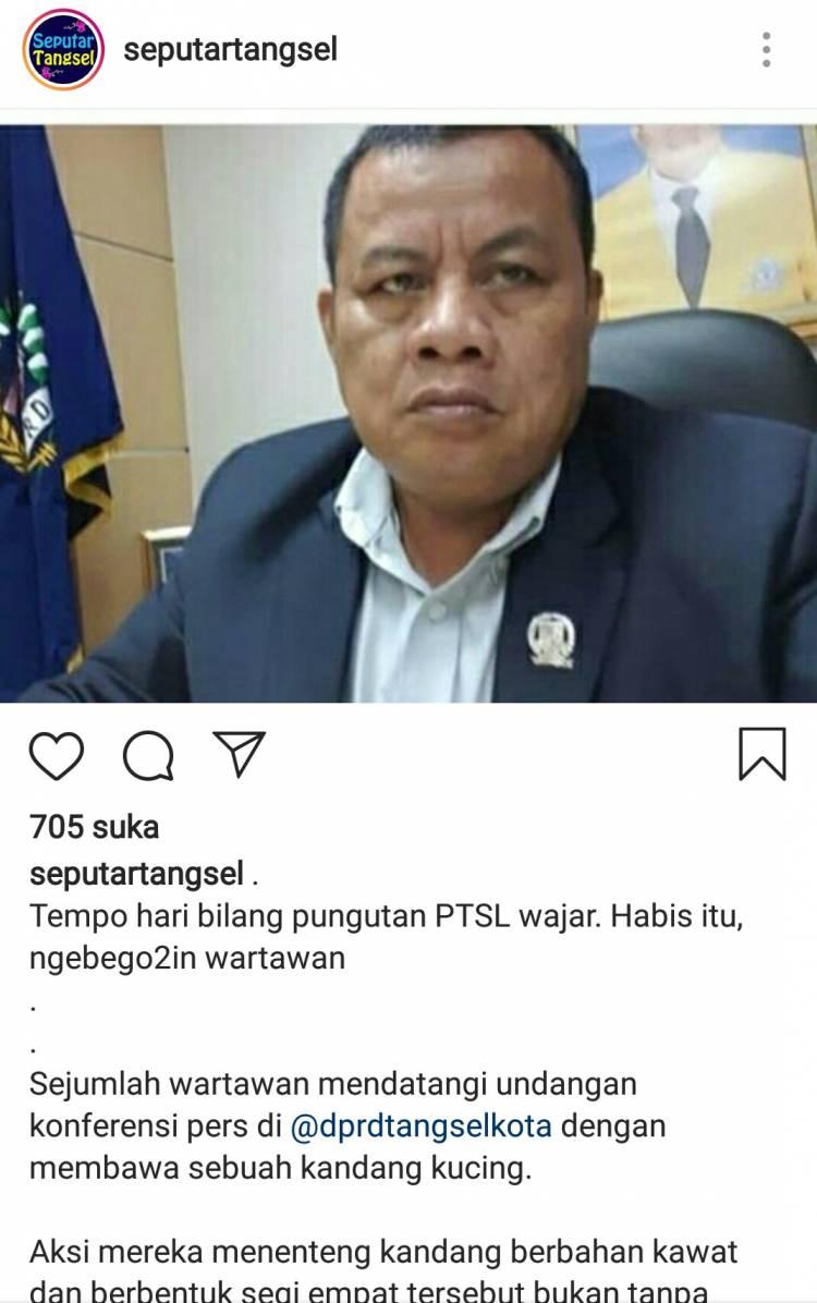 Pasca Maki-maki Wartawan oleh Ketua DPRD Tangsel, Tagar #2019GantiDewan Ramai