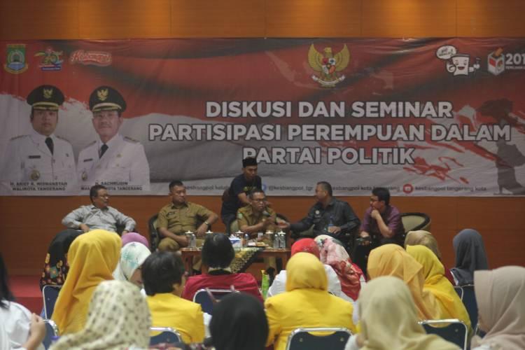 Kesbangpol Kota Tangerang Gelar Diskusi Keterwakilan Perempuan Dalam Politik